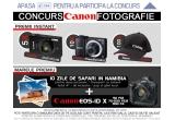 1 x aparat foto DSLR Canon EOS-ID X + excursie de 10 zile de safari in Namibia, 100 x Sapca, 10 x camera foto Canon PowerShot A810, 5 x camera foto Canon Ixus 510 HS