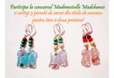 1 x 3 perechi de cercei din sticla de murano Mademoiselle Madchance pentru tine si prietenele tale