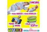 1 x Perna Abrazo+ perna pentru formarea capului bebelusului, 1 x Colac de alaptat cu husa colorata, 1 x Perna de pozitionare Amore
