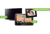 1 x televizor LCD – model LED TV 32 PHILIPS 32PFL3507H, 1 x sistem de navigatie – model GARMIN NUVI 2595 FE, 1 x rama foto digitala – model E-BODA LED 1030