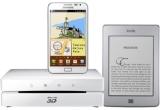 "1 x eBook Reader Kindle Touch Wi-fi, 1 x Blu-ray Player 3D Samsung BD-ES6000E, 1 x smartphone Samsung Galaxy Note N7000, 1 x MP3 Player Plilips + SMS alert gratuit (6 luni), 1 x cartea ""100 cele mai frumoase orase ale lumii"" + BT 24 internet banking gratuit (6 luni), 1 x aparat foto digital Canon PowerShot A800 + BT 24 mobile internet banking gratuit (6 luni), 1 x multifunctionala Canon Pixma MP280 + SMS alert gratuit (6 luni), 1 x camera web Microsoft Lifecam HD-6000 + BT 24 internet banking gratuit (6 luni), 1 x boxe Genius 2.1 + BT24 mobile internet banking gratuit (6 luni), 1 x rama foto digitala Serioux SmartArt + BT 24 internet banking gratuit (6 luni), 1 x sistem de navigatie Serioux UrbanPilot + BT 24 mobile internet banking gratuit (6 luni)"