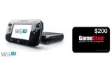 1 x consola Wii U + un bon valoric de 200$ valabil la GameStop
