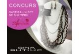 1 x set de bijuterii Gina Butiuc (set de bijuterii compus din colier + cercei Gina Butiuc, realizat manual din perle si snururi de matase)