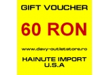 1 x voucher de 60 RON pe site-ul www.davy-outletstore.ro