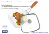 1 x o tigaie de tip Grill din Ceramica cu capac din sticla termorezistenta de 28cm