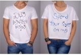 1 x 2 tricouri pentru ea si pentru el de la Emilio Ghaman