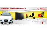 1 x o masina Seat Leon Copa Plus, 15 x Smartphone Samsung S5360 Galaxy Y, 1 x TV LG FullHD 50PA6500 + Home Cinema LG HT356SD