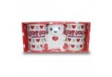 1 x un set de cani ,,I love You,,