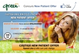 "4 x pachet ""New Patient Offer"" ce cuprinde albire dentara Opalescence pe viata, voucher tratamente 200 lei, consultatie, sedinta de profilaxie"