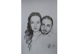 1 x un portret in creion propriu sau al unei persoane dragi