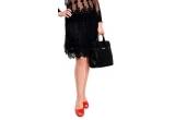 1 x O fusta Tina R din voal negru