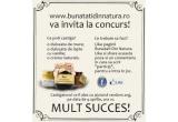 1 x premii Bunatati din Natura (dulceata de mure + o dulceata de lapte cu vanilie + o crema naturala)