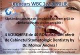 4 x voucher de 40 RON discount la Cabinetul Stomatologic Dentistry