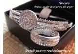 1 x set de bijuterii din argint incrustat cu zirconiu