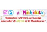 3 x voucher in valoare de 100 ron de la Nichiduta.ro