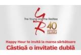 1 x invitatie dubla la petrecerea VIP din Monte Carlo alaturi de starurile serialului tau preferat Tanar si nelinistit