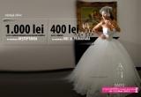4 x voucher de 1.000 RON pentru alegerea unei rochii de mireasa, 4 x voucher de 400 lei pentru alegerea celor mai frumoase bijuterii la Targul Ghidul Miresei de la Romexpo