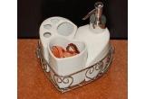 1 x set de baie din ceramica si inox