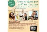 1 x city break la Roma, 2 x rama foto digitala personalizata Carpatair