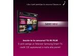 4 x voucher de 15 euro pe Seenow, 1 x televizor Samsung Smart TV 42F5500