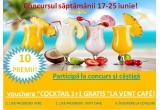 """10 x voucher """"COCKTAIL 1+1 GRATIS"""" la Vent Cafe"""
