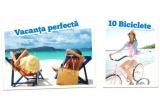 1 x voucher de calatorie de la J'info Tours, 10 x voucher pentru a comanda o bicicleta de pe freeridebikes.ro