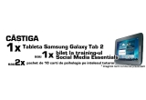 "1 x tableta Samsung Galaxy Tab 2 + 50 puncte, 1 x bilet de participare la training-ul de 4 zile ""Social Media Essentials"" + 30 puncte, 2 x pachet de carti de psihologie pe intelesul tuturor + 20 puncte"