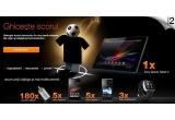 5 x smartphone SONY Xperia™ J, 3 x smartwatch SONY, 180 x voucher Orange de 10 euro, 1 x tableta Xperia™ Tablet Z, 5 x smartphone SONY Xperia E