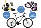 1 x echipament TRX, 1 x pereche de ghete Kangoo Jumps, 1 x bicicleta Felt Six 95