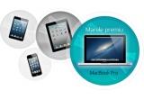 1 x MacBook Pro, 1 x iPhone 5, 1 x iPad 16GB, 1 x iPad Mini