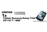 1 x analize generale + tableta Samsung Galaxy Tab2 P3110 7″ 8GB + 50 puncte, 1 x control oftalmologic + 30 puncte, 1 x control stomatologic + 20 puncte