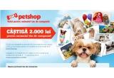 1 x 2.000 Lei Card Cadou pentru animalul tau de companie