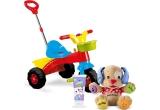 1 x jucarie educativa Catelusul vorbitor, 2 x tricicleta, 2 x jucarie educativa Lego, 10 x set de produse Happy