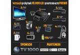 "1 x 10.000 lei, 4 x televizor LG LED, 4 x Blu Ray 3D Samsung, 2 x Soundbar Akai, 4 x Tableta 7"", 4 x Espresor Electrolux, 4 x Aspirator Electrolux,4 x Cuptor cu microunde Electrolux, 2 x Fierbator Electrolux, 20 x Geanta laptop Hama, 4 x Mouse Hama, 150 x Husa de telefon Hama, 1 x Sony Play Station3"