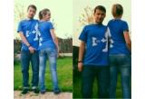 2 x doua tricouri Kinder Romania + poza pe un panou din oras