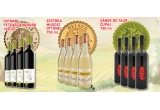 1 x 10 sticle de vin Cotnari Feteasca Neagra 750ml, 1 x 10 sticle de vin Zestrea Muscat Ottonel 750ml, 1 x 10 sticle de vin Sange de Taur cupaj 750ml