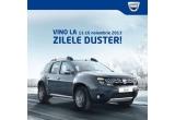 3 x vacanta de o saptamana cu noul Duster + 1300 euro, 3 x iPad mini + 28 euro, 60 x mini boxa