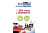 10 x card de carburant MOL Blue de 1000 lei, 1230 x 3000 puncte MultiBonus folosibile in benzinariile MOL