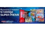 1 x pachet gaming compus din Formula 1 2013 + Naruto Shippuden Ultima Ninja Storm 3 Full Burst + Tales of Xillia (PS3), 1 x pereche de casti gaming ZALMAN, 1 x set Robo Fish cu acvariu