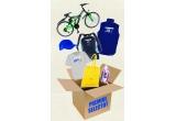 1 x bicicleta + set de rechizite + materiale promoționale + fier de calcat