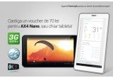 1 x tableta Allview AX4 Nano, 1 x voucher Allview de 70 lei pentru AX4 Nano