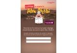 1 x 2 bilete de avion la Abu - Dhabi