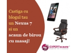 1 x tableta Asus Google Nexus 7, 1 x scaun de birou din piele de la Expert-Scaune.ro
