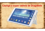 1 x tableta Samsung Galaxy Tab 3, 2 x voucher Leadermag de 75 ron