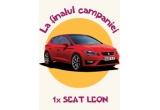 1 x masina Seat Leon, 8 x weekend la munte, 168 x kit calatorie pentru copii