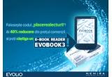 1 x eReader Evobook 3 + voucher Nemira de cumparaturi cu 40% reducere