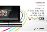 1 x tableta Allview Viva D8, 1 x voucher Allview de 80 lei pentru Viva D8
