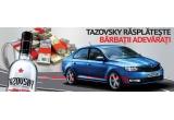 1 x masina Skoda Rapid, 200 x set pahare Tazovsky, 46 x prima de Paste de 200 ron
