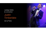1 x excursie la Paris pentru 2 persoane + 2 bilete VIP la concertul Justin Timberlake