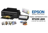 1 x imprimanta foto EPSON L800 + set de hartie foto A4